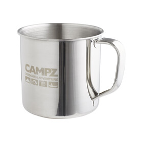 CAMPZ Edelstahlbecher Bottle 500ml silver